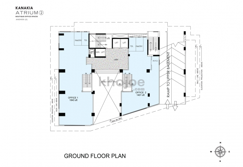 1401 sq ft commercial office space for sale in kanakia for Commercial building plans for sale
