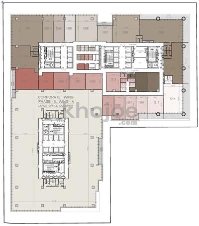 20000 sq ft commercial office space for sale in one bkc for Commercial building plans for sale