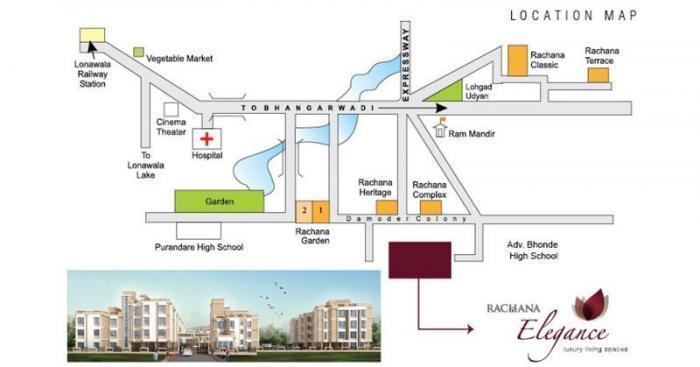 Rachana Elegance  -  Location  flr Plan
