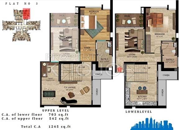 Imperial Heights - 3 Flr Plan