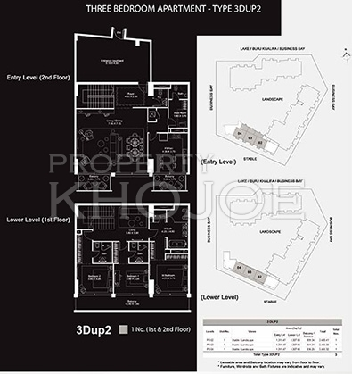 The Atria  -  3Bedroom Flr Plan