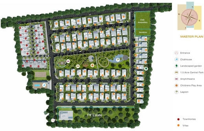 Godrej Elite Townhomes  - layout plan