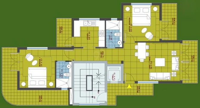 Redrock Elegance  - typical flr plan
