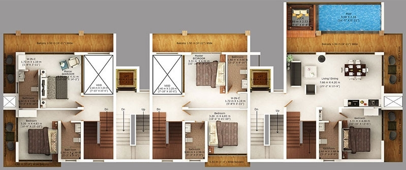Rio Sky Villa  - typical flr plan