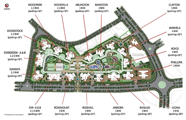 Enclave Rosemount  - layout plan