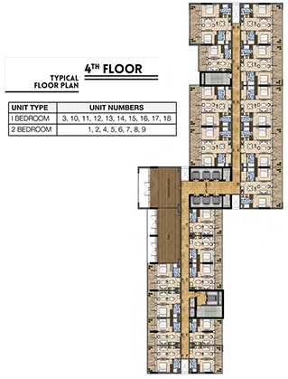 Vera Residences - 4th flr plan