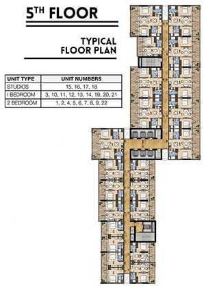 Vera Residences - 5th flr plan