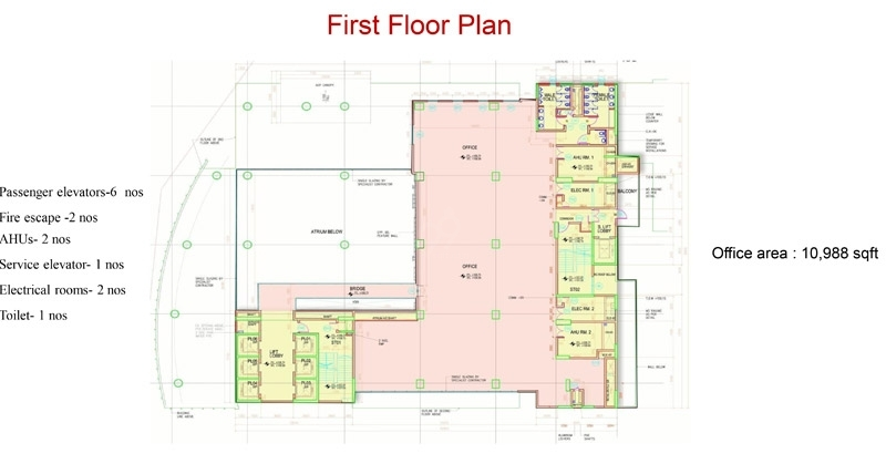 RMZ Galleria Comm - first flr plan