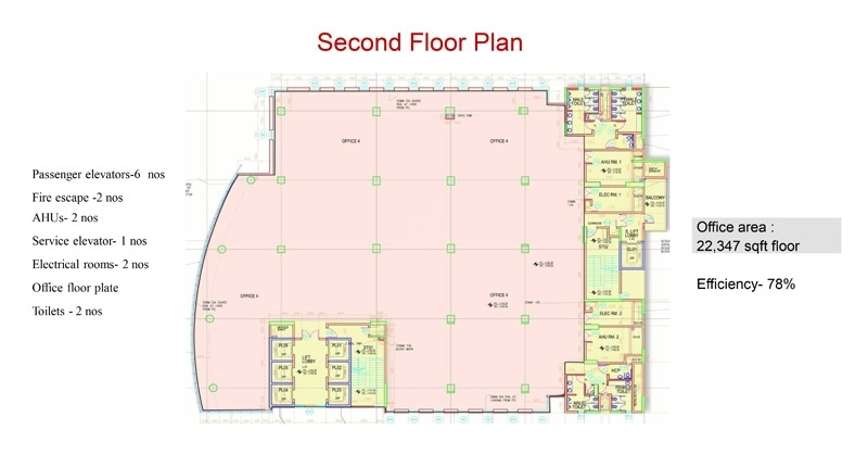 RMZ Galleria Comm - Second flr plan
