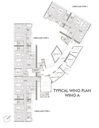 The Park -  Wing a flr plan