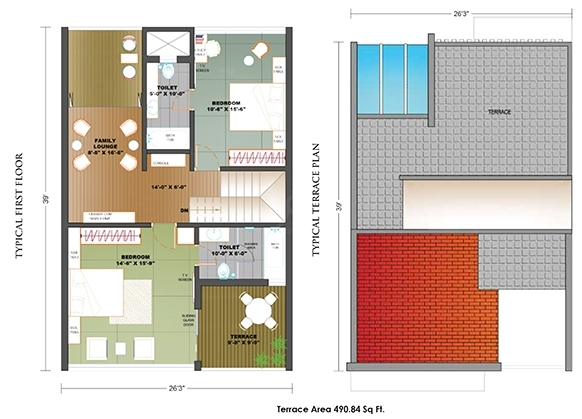 Expat Vida Uptown  - typical flr plan