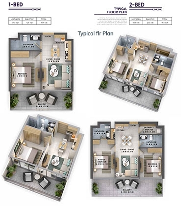 Damac Reva  - Typical flr plan