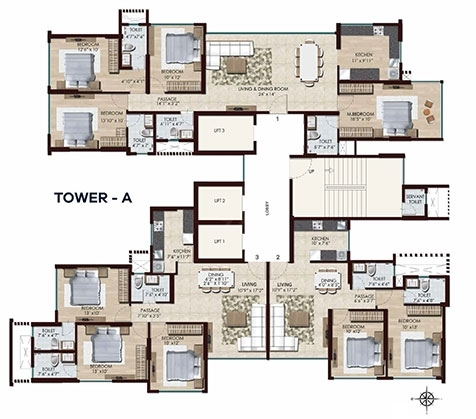 Chandak Stella  - Tower A Flr Plan