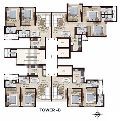 Chandak Stella  - Tower B  Flr Plan